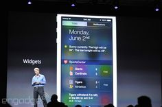 Apple's iOS 8 supports widgets in Notification Center