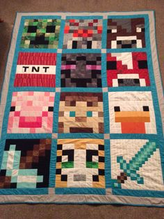 Minecraft quilt made for my grandson