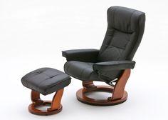 Relaxsessel Hamilton Leder Schwarz Fuß Honig 8842. Buy now at https://www.moebel-wohnbar.de/relaxsessel-hamilton-fernsehsessel-leder-schwarz-fuss-honig-8842.html