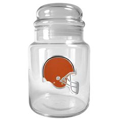 Cleveland Browns NFL 31oz Glass Candy Jar Container with Lid
