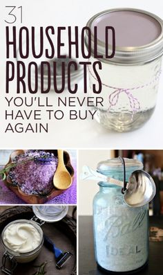 31 Household Products You'll Never Have To Buy Again...http://homestead-and-survival.com/31-household-products-youll-never-have-to-buy-again/