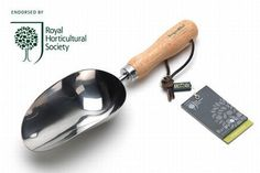 RHS Stainless Compost Scoop Burgon and Ball Garden Hand Tool Composting