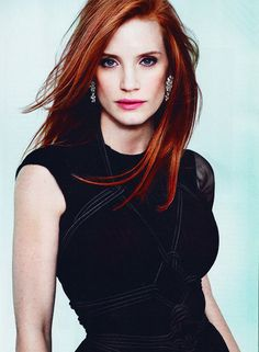 Jessica Chastain - In love with her hair.