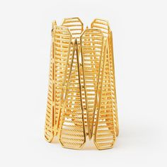 Filigree Spoke Statement Cuff by ISHARYA Jewelry