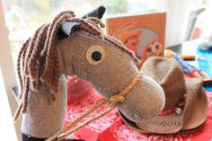 Ever Never Again: kids play....how to instructions for making this stick pony