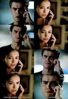 """I love you, Stefan. Hold on to that. Never let that go."" #TVD #Stelena Looks like Elena let that go... How dare you Elena?"