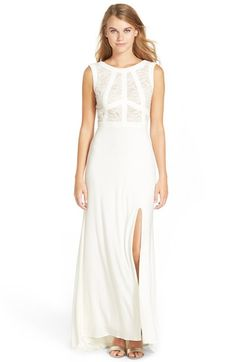 Morgan & Co. Glitter Lace Bodice Gown available at #Nordstrom