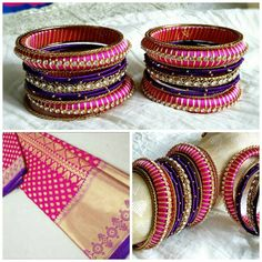 Hey, I found this really awesome Etsy listing at https://www.etsy.com/listing/498125734/silk-thread-jewelry-pink-purple-gold-a