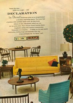 great vintage drexel advertisement! (cuz i want that couch)