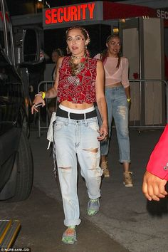 Night out! Cyrus left Drake and Future's Summer concert in Los Angeles on…