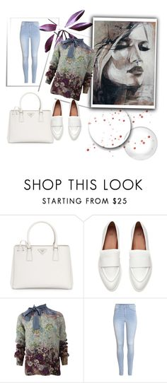 """:)"" by dzenana-ikanovic ❤ liked on Polyvore featuring Prada, Valentino and H&M"