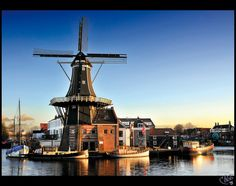 Adriaan windmill, Haarlem, Netherlands. one of our days out on the HM we went here. so fun.