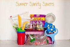 Summer Sanity Savers- indoor activities, fine motor skills, sensory play