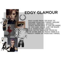 """Mood pict of Edgy Glamour"" by marsadhea on Polyvore"