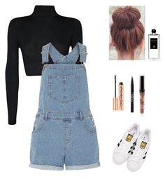 """""""Outfit for school #2"""" by gabriela-dominguez17 on Polyvore featuring WearAll, Dorothy Perkins, adidas Originals, Trish McEvoy, Charlotte Tilbury and Serge Lutens"""