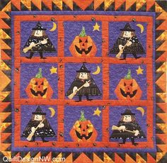 Mystic Witch quilt pattern by Marjorie Rhone | Quilt Design NW
