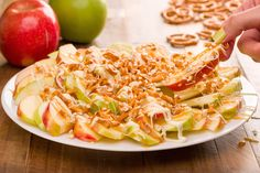 I mean, it's fruit. Of course it's healthy. Just don't go overboard on the toppings and you're good to go. Recipe: Apple Nachos   - Delish.com