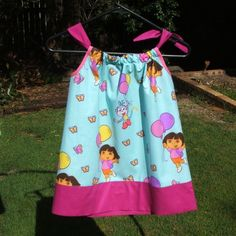 Dora size 12mth 18mth 2 or 3 summer pillowcase style dress - by LaughLand on madeit  Gave this to my niece for Xmas-absolutely loved it!
