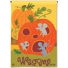 Pumpkin Critters Garden Flag