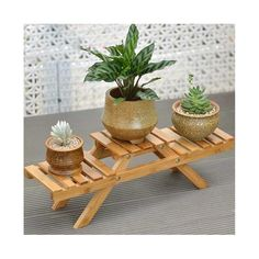 This product is a direct import item with free worldwide delivery and is being shipped from our warehouse overseas. Stock is limited but still available, be quick!  Mini wooden plant rack for a unique piece of home decor, and to bring the green indoors!  TYPE: Plant Stand/Flower Shelf MATERIAL: Bamboo SIZE: 52x16.5x15cm Indoor Outdoor, Outdoor Pots, Outdoor Garden Furniture, Potted Plants, Indoor Plants, Succulent Plants, Indoor Gardening, Green Plants, Succulents Garden