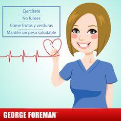 Las enfermedades cardiovasculares son la principal causa de muerte en todo el mundo. ¡Actívate y cuida tu salud! #tip #salud #corazón #mujer #georgeforemanmx