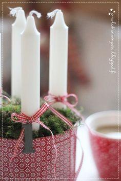 adventtikynttilät, diy, greengate