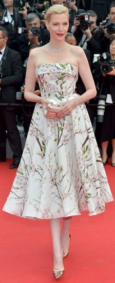 Nadia Auermann at Cannes, 2014