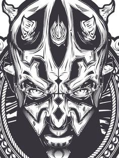 ☆ Illustration Graphic Design Art Poster Darth Maul -Detail- Artist Joshua Smith -aka. Hydro 74- ☆