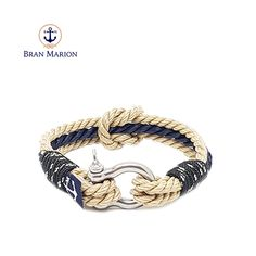 Bran Marion bracelets are the perfect casual accessory for the outdoorsy sporty types. Especially the water enthusiasts. Nautical Bracelet, Nautical Jewelry, Reef Knot, Marine Rope, Everyday Look, Handmade Bracelets, Jewelry Collection, Gifts, Accessories
