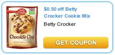 $0.50 OFF Betty Crocker Cookie Mix Coupon = FREE at Target?? on http://www.icravefreebies.com/