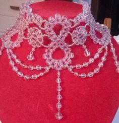 collana, collarino, girocollo in mezzo cristallo crystal