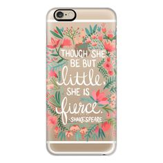 Little & Fierce – Transparent - iPhone 7 Case, iPhone 7 Plus Case,... (2.550 RUB) ❤ liked on Polyvore featuring accessories, tech accessories, phone, phone cases, tech, electronics, iphone case, slim iphone case, iphone cover case and iphone cases