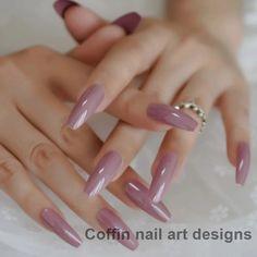Dark Pink Long Ballerina Fake Nails Coffin Nail Decoration Tips Application: FingerNail Length: Extra longModel Number: Glossy nailsType: Full Nail TipsNail Width: MediumSize: Long coffin nailMaterial: OtherQuantity: 24 nails Nail Art Designs, Short Nail Designs, Acrylic Nail Designs, Nails Design, Cute Acrylic Nails, Cute Nails, Pretty Nails, Smart Nails, Hair And Nails