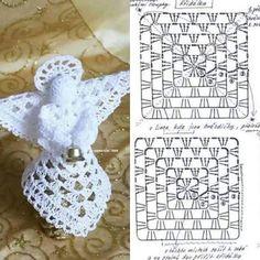 Crochet Angel Free Patterns &a Crochet Hat Tutorial, Crochet Angel Pattern, Crochet Angels, Crochet Diy, Thread Crochet, Crochet Motif, Crochet Crafts, Crochet Doilies, Crochet Projects