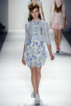 Ruffian Spring 2013.    An unimpressive collection, but the blue ming vase-like print is lovely.