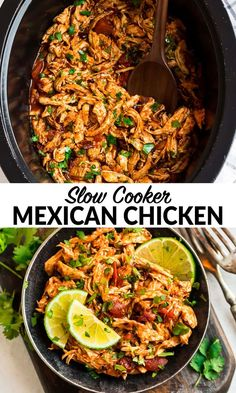 Easy and delicious Crockpot Mexican Chicken can be used in DOZENS of simple weeknight dinner recipes It s packed with flavor and is freezer-friendly wellplated crockpotchicken easydinnerrecipes Slow Cooker Mexican Chicken, Crockpot Recipes Mexican, Healthy Recipes, Mexican Cooking, Simple Crockpot Chicken Recipes, Crockpot Mexican Chicken Recipes, Healthy Crockpot Chicken Recipes, Mexican Chicken Fajitas, Healthy Crock Pots