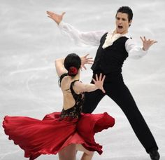 Virtue and Moir - Canadian Ice Dance pair he is a great actor very macho right here!