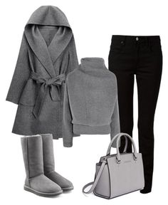 """Grey chic outfits"" by jenny-oakley ❤ liked on Polyvore featuring Alexander Wang, Acne Studios, UGG Australia and MICHAEL Michael Kors"