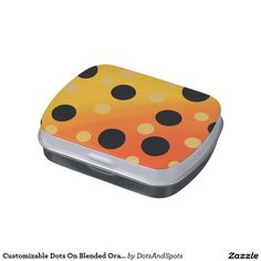 Customizable Dots On Blended OrangeToYellow Jelly Belly Tins