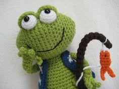 Amigurumi Frog Jimmy Toy Doll Animal Crochet от Millionbells