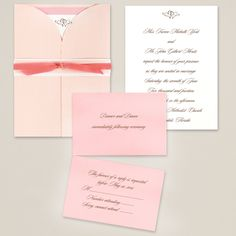 Wrapped in Romance Wedding Invitation | #exclusivelyweddings | #pinkwedding