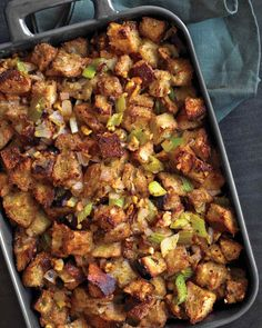 Mushroom and Walnut Stuffing - We'll be serving this with Diamond Walnuts this Thanksgiving!