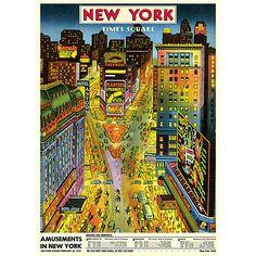 Cavallini gift wrap: New York Times Square
