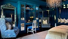 Blue bedrooms are perfect for relaxing and helping you get to sleep easier.