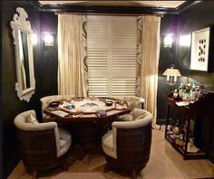 Perfect set for the hubby's poker room idea