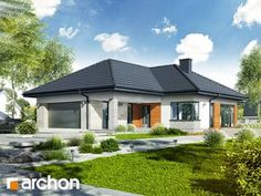 Dom w araukariach Modern House Plans, Modern House Design, Single Story Homes, Home Fashion, Journey, Mansions, House Styles, Outdoor Decor, Home Decor