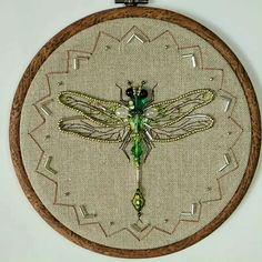 Hand Embroidery Stitches, Embroidery Hoop Art, Hand Embroidery Designs, Embroidery Techniques, Beaded Embroidery, Cross Stitch Embroidery, Bead Embroidery Patterns, Macrame Patterns, Dragonfly Wall Art
