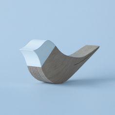 This doorstop by Belgian designer Cas Moor is shaped like a tiny bird. #design