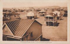 Gruissan, plage des chalets dans les années 50 Merci Daniel pour cette carte postale