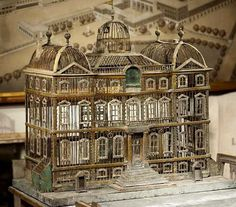 A grand late 19th century birdcage in wire, wood and zinc from London